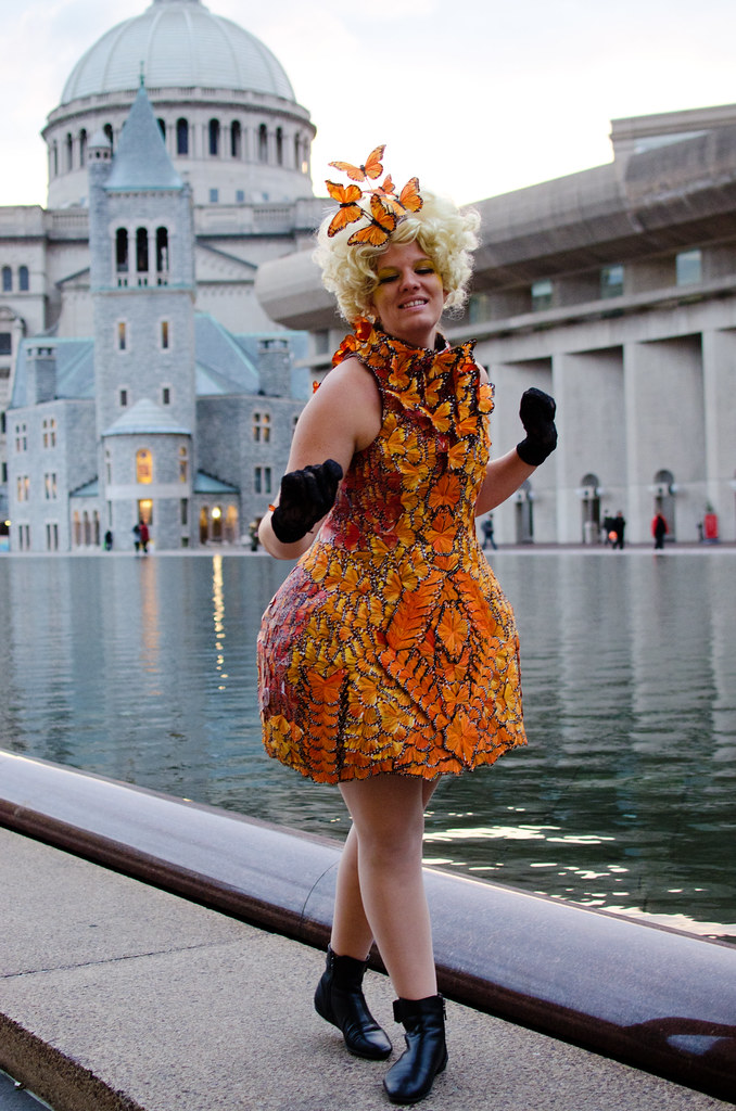 Effie Trinket butterfly dress