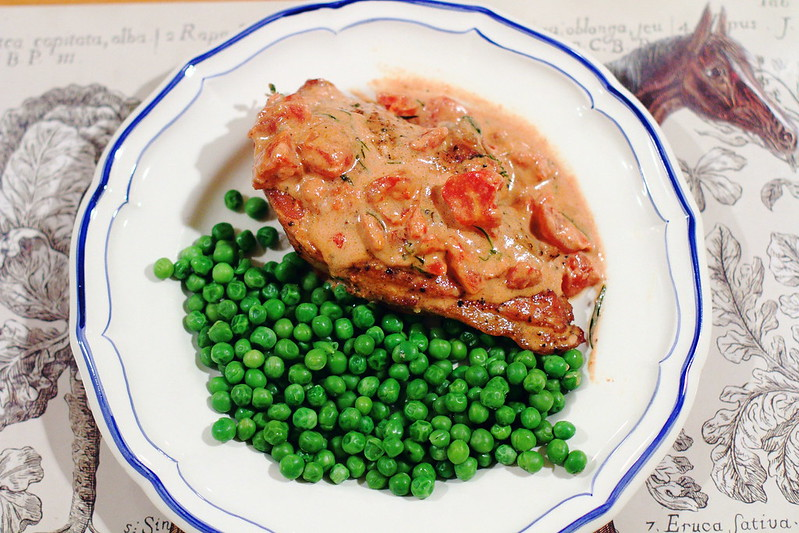 Sunday Dinner: Smothered Pork Chops and Peas