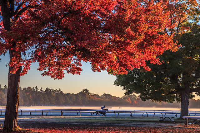A Morning Workout Under the Fall Foliage