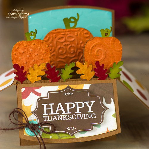 Happy Thanksgiving Box Card by Corri Garza