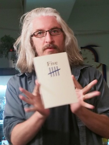rob shows off the Apt 9 book