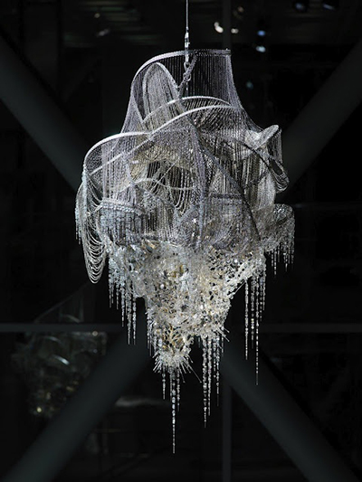 Love them or hate them 12 cool and bizarre chandeliers kudzu chandelier by lee bul aloadofball Image collections
