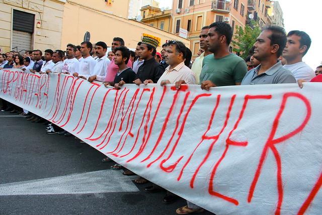 Manifestazione dopo l'uccisione di Shazhad