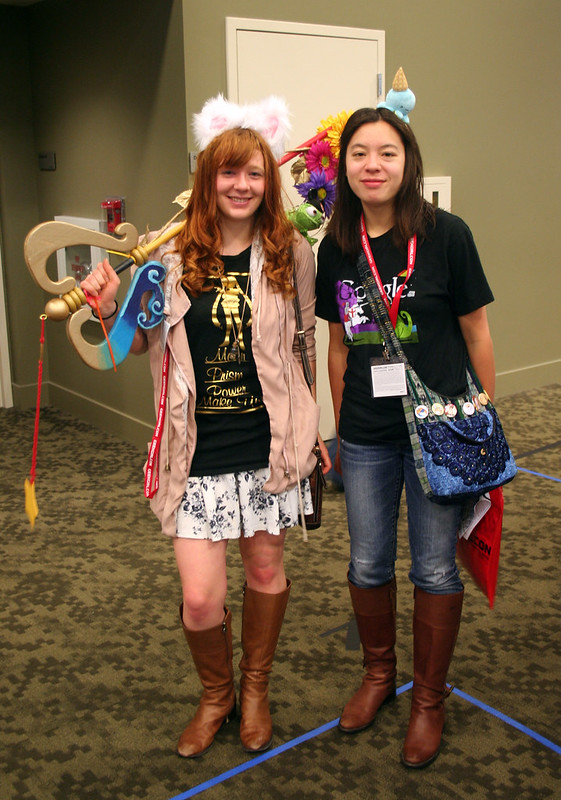two friends cosplaying