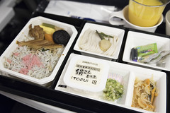 Dinner, Airplane Meal, ANA Narita-San Francisco