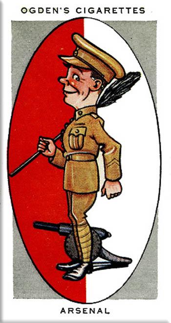 Arsenal cigarette card