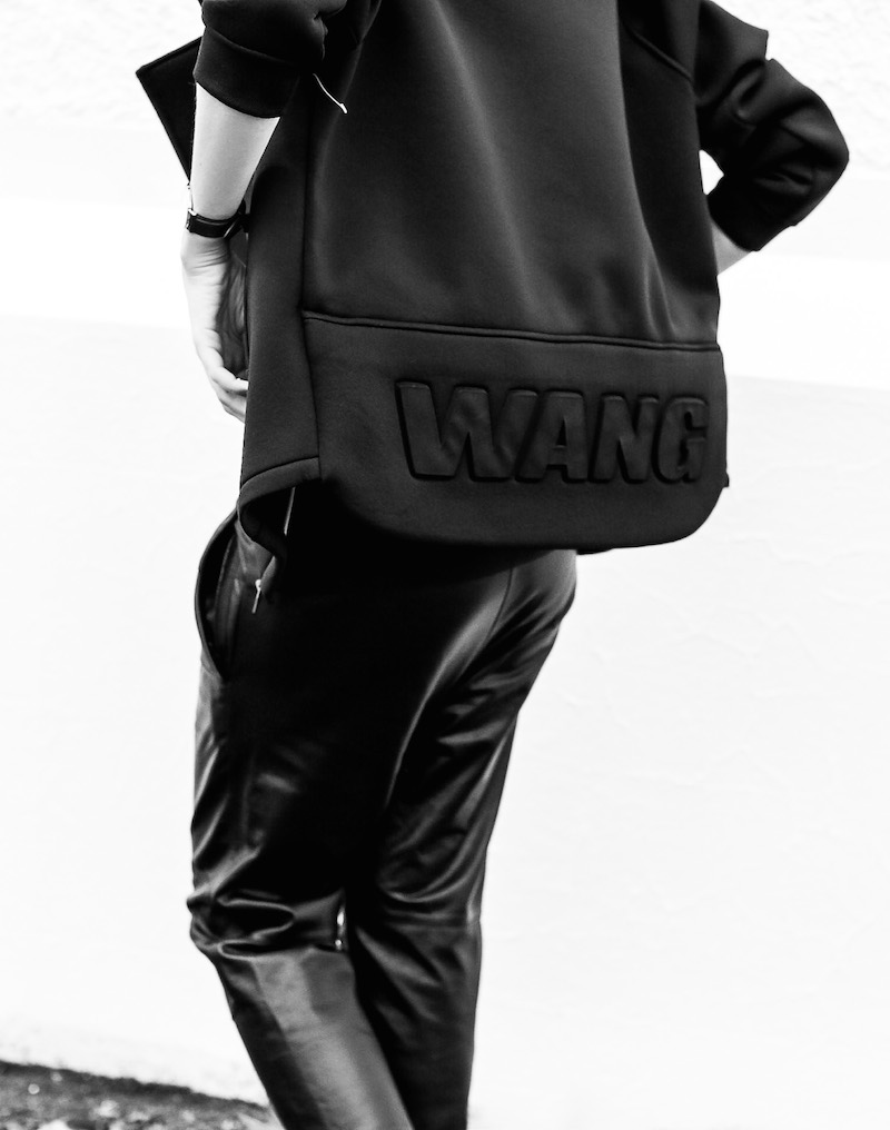ALEXANDER WANG x H&M all black street style modern legacy fashion blog Australia sport luxe inspo (3 of 14)