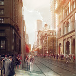 George Street at Barrack Street, artist's impression