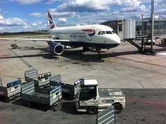 British Airways A320 at the gate in Oslo