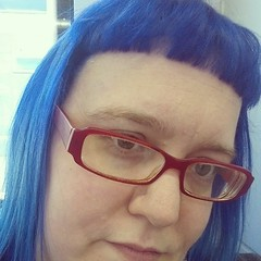 Wind has already been at it....but yay tis blue again. #bluehair #furrhair #alwynisawesome
