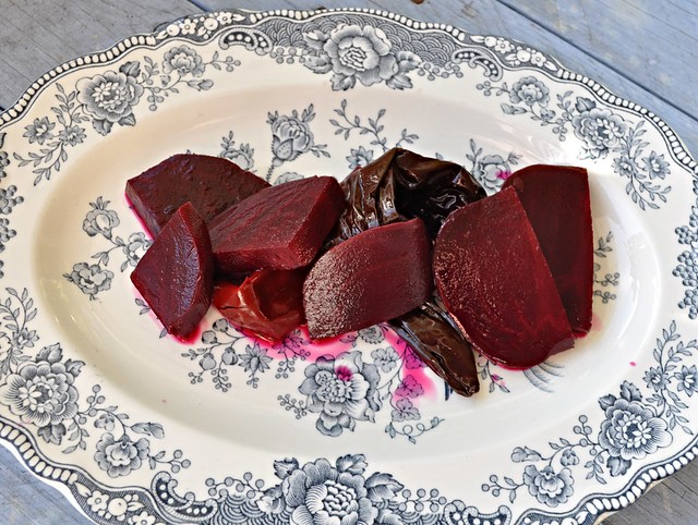 Beetroot pickle with hibiscus and chilli