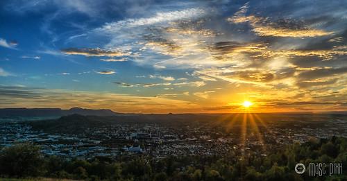 autumn sunset germany deutschland sonnenuntergang sunny sonnig reutlingen