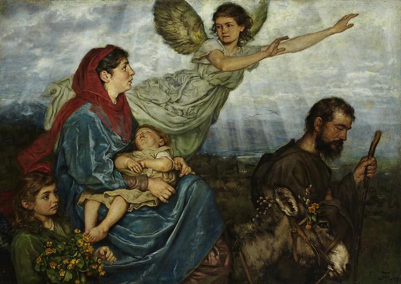 Hans Thoma - Die Flucht nach Ägypten (1879)