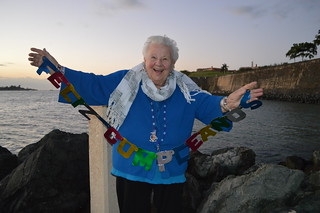 ¡feliz cumpleaños! Theresa Irene Wolowski in Old San Juan, Puerto Rico