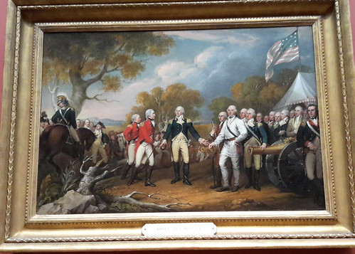 Surrender of General Burgoyne, by John Trumbull (1821)