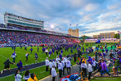 This is Our Field! ::  	   The Northwestern University 'Wildcat' Marching Band performs at Ryan Field as Northwestern Football hosts Wisconsin on October 4, 2014.  Photo by Daniel M. Reck '08 MSEd.