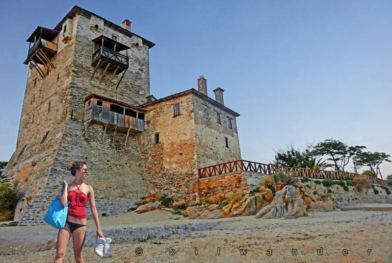 Macedonia, beach girl, Ouranoupolis, Chalkidiki, Greece  #Μacedonia