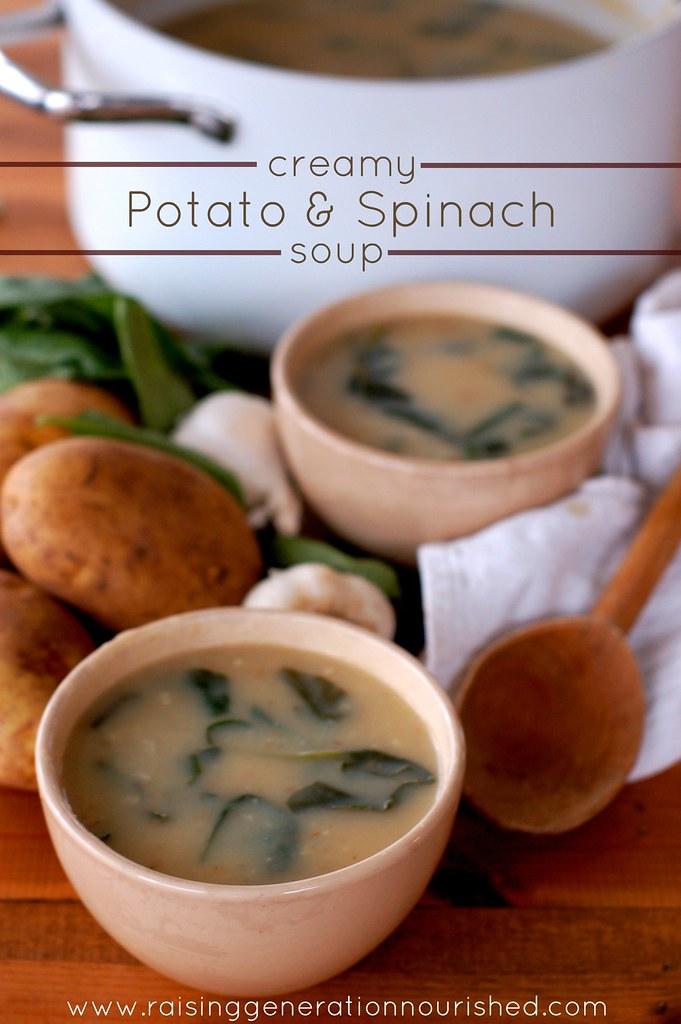Creamy Potato & Spinach Soup