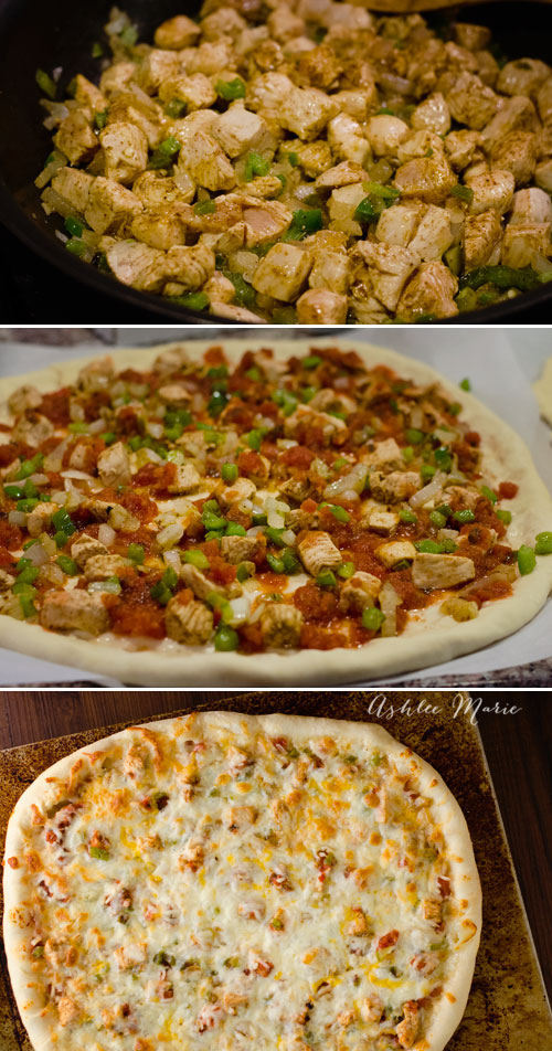it couldn't be easier to make this chicken fajita pizza