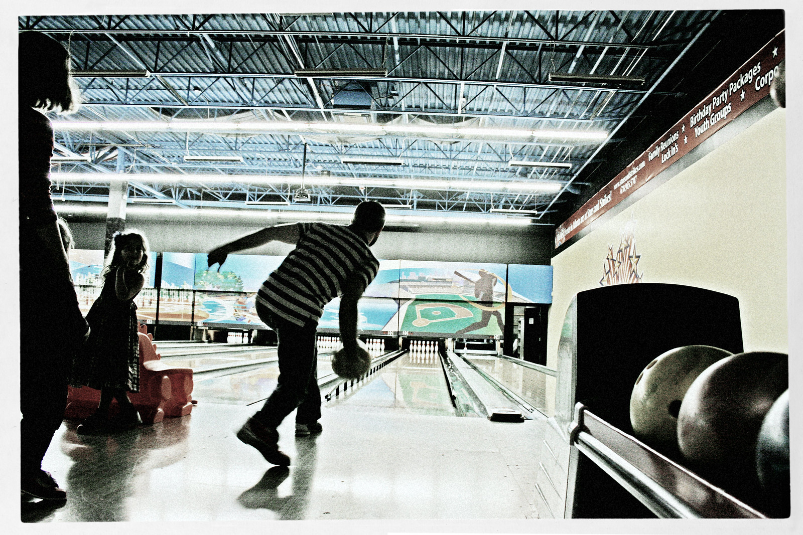 Bowler in Striped Shirt 2, Oct 2014