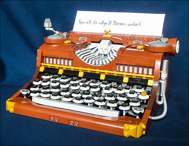 1-LEGO steampunk typewriter HQ