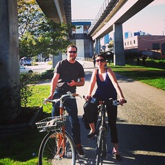 #latergram from last weekend's ride to @steelandoak in New West. Pic @normalbikes