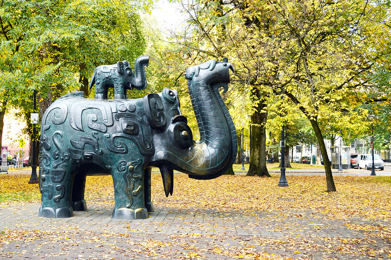 Park Block Elephants