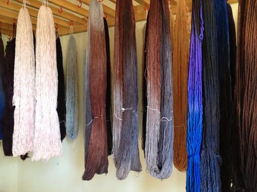 Canada Halifax Fleece Artist drying yarn