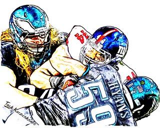 New York Giants Andre Williams - Philadelphia Eagles  DeMeco Ryans, Beau Allen