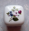 "Vintage Otagiri ""Rose Bouquet"" Ceramic box"