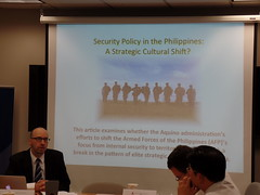 Dr. Jeffrey Lantis, Professor, College of Wooster. (On behalf of chapter author Dr. Renato Cruz De Castro, De La Salle University, Manilla)