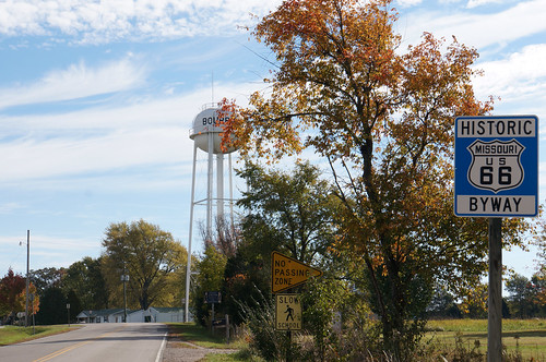 Route 66 east - approaching Bourbon, Missouri