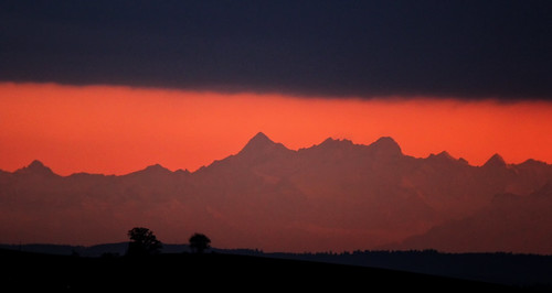 mountains evening abend mood berge stimmung afterglow abendrot 2014 rafz nordsüd föhnfenster