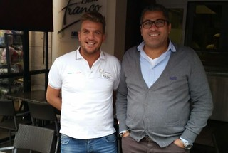 Giuseppe Topputi con il Padre a Diekirch