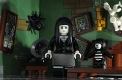 Spooky Girl in her Spooky Room