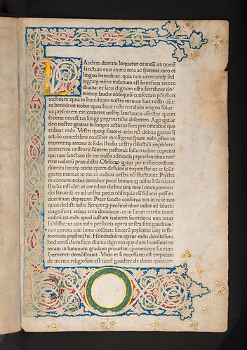 Decorated page in Leo I, Pont. Max.: Sermones