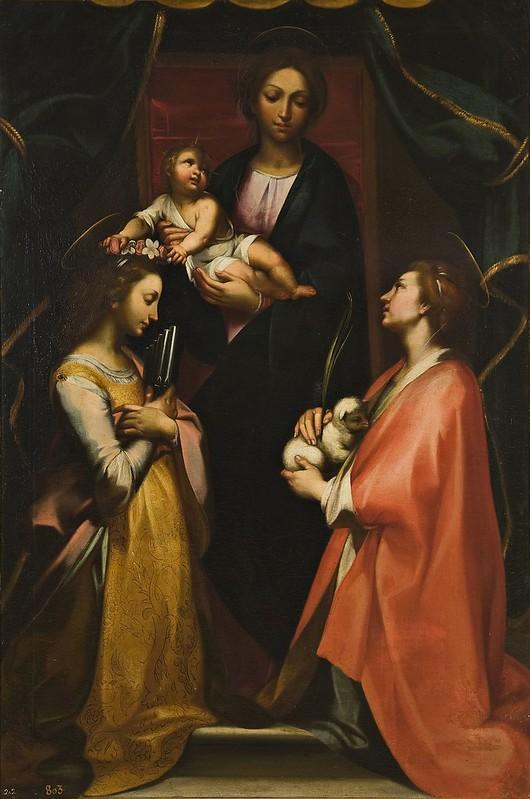 Francesco Vanni - La Virgen con el Niño, Santa Cecilia y Santa Inés (c.1600)