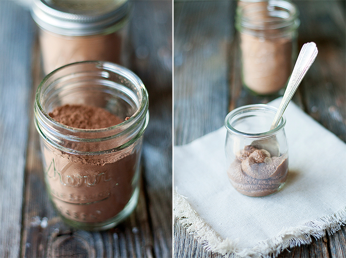 healthy hot cocoa mix and chocolate ricotta dessert