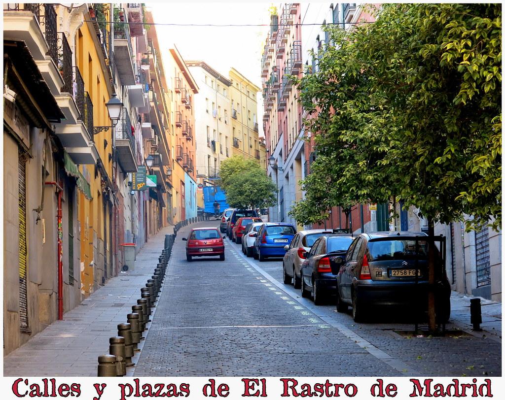 Calles y plazas de El Rastro de Madrid