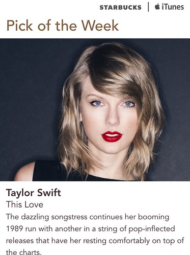 Starbucks iTunes Pick of the Week - Taylor Swift -This Love