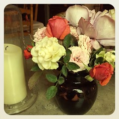 The last of the roses from my parents' yard. Freeze coming tonight. #Autumn