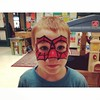 """Face painting day at school. """"Mama, I have a piderman face!"""""""