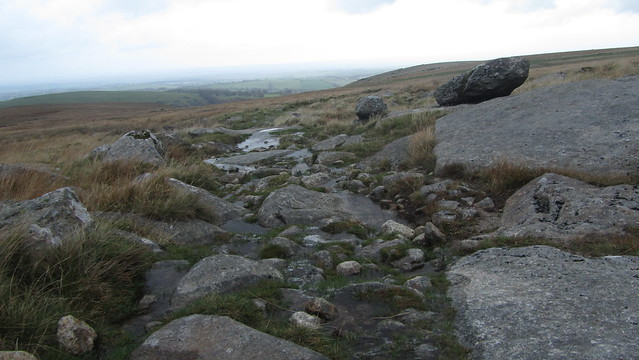 Rocky track to Longstone Hill