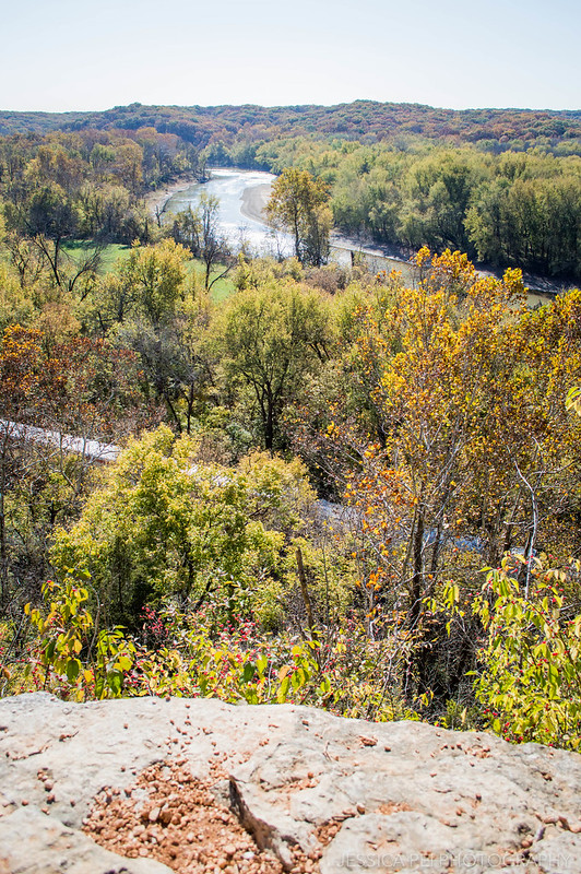 River Trail During Autumn in Castlewood State Park