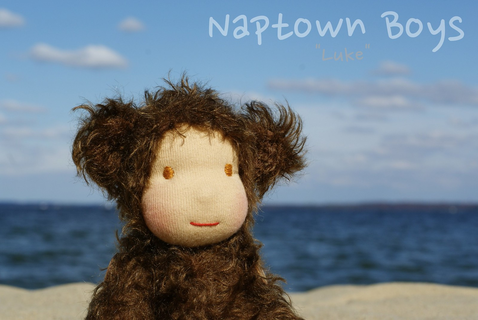 "Luke, a 9"" NapLush Mohair Bear"