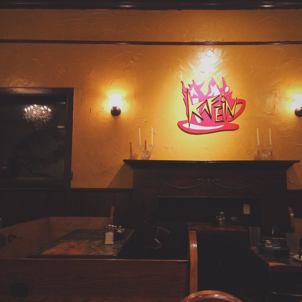 Late night chat at Kafein
