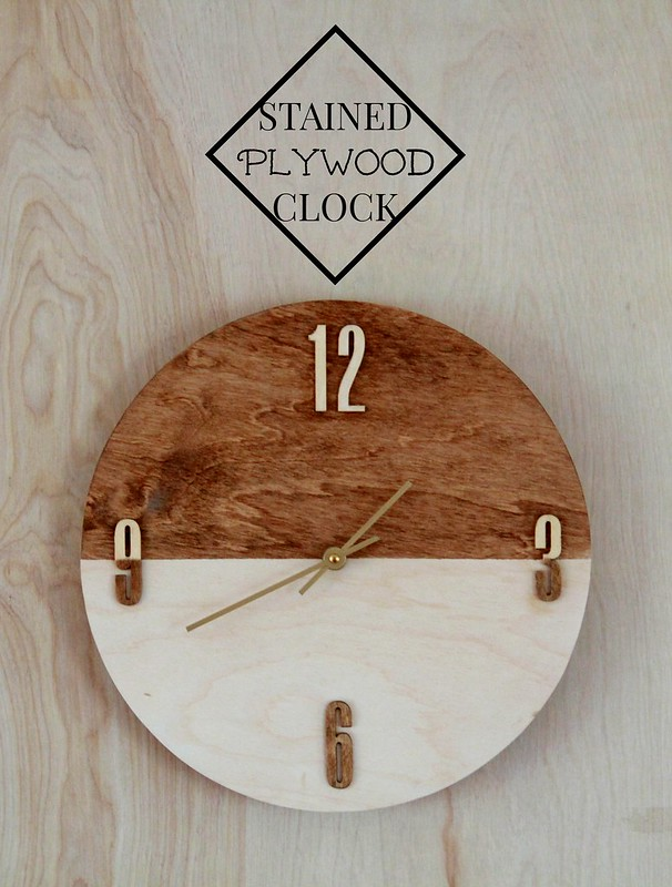 how to make a stained plywood clock tutorial via Kristina J blog
