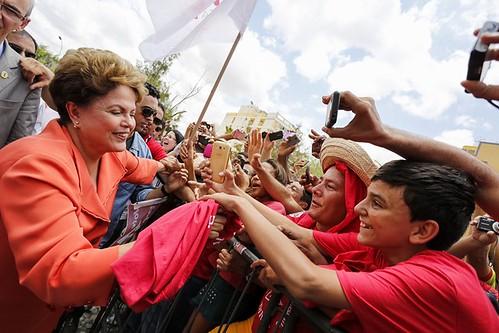 Dilma Rousseff durante o Encontro: Pelo Semiárido. Petrolina - PE, 21/10/2014. Foto: Ichiro Guerra