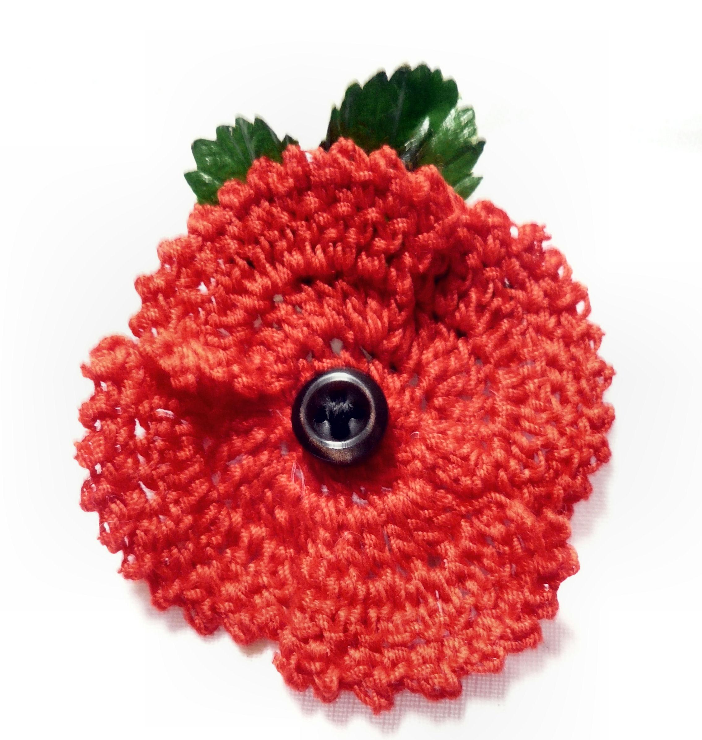 Crochet poppy 2