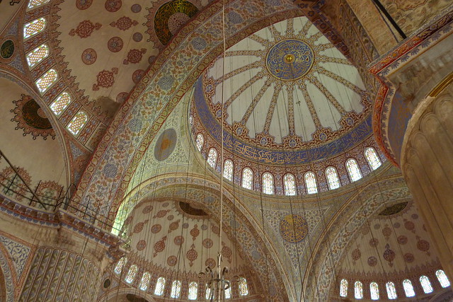 in sultan ahmed's mosque